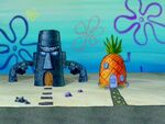 Squidward's House With Stone Arms