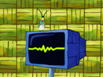 SpongeBob SquarePants Karen the Computer Painted