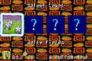 SuperSponge GBA level select
