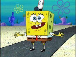 Spongebob without wavy edges