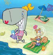 SpongeBob-Pearl-and-Sandy-beach