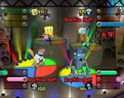 3d Spongebob, 3d Squidward, 3d Sandy, & 3d Sheldon3