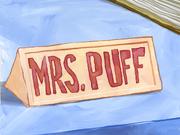Mrs Puff school nameplate
