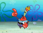 Mr. Krabs Wearing a Hard Hat