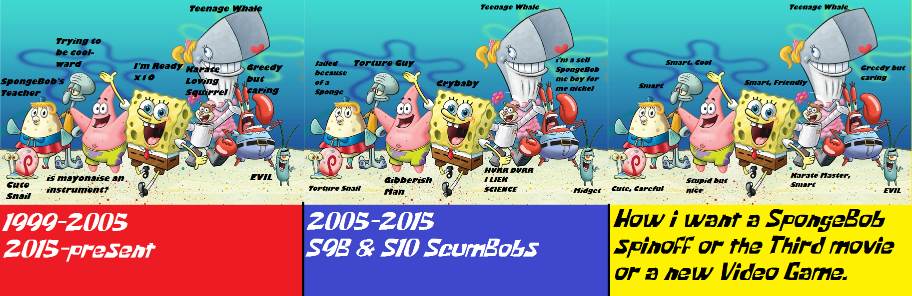 then and now spongebob iipng - Spongbob 2