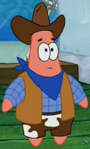 Patrick Wearing a Cowboy Outfit