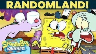SpongeBob & Squidward Explore Randomland! 😸 Things Get Weird... SpongeBob
