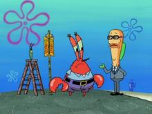 Мистер Крабс и Планктон узнают о новом законе