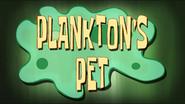 Plankton's Pet