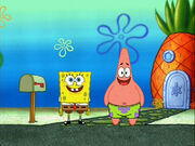 SpongeBob and Patrick waiting