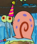 Gary Wearing a Party Hat