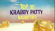 SpongeBob SquarePants Goodbye Krabby Patty Asian Promo No1 - Top 10 Krabby Patty Varieties