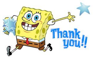 SpongeBob saying thank you