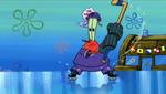 Mr. Krabs Wearing His Hockey Uniform