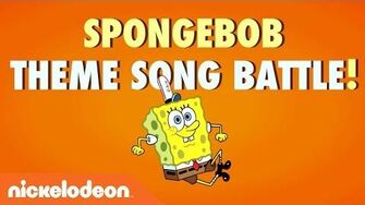 SpongeBob SquarePants Theme Song Battle Nick Stars vs