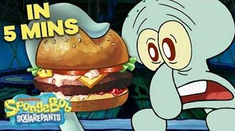 Squidward's First Krabby Patty 🍔 in 5 Minutes! SpongeBob SquarePants