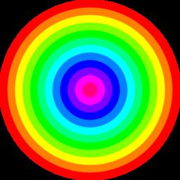 Rainbow-circles
