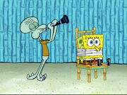 Squidward Plays His Clarinet and the Earworm Leaves 6
