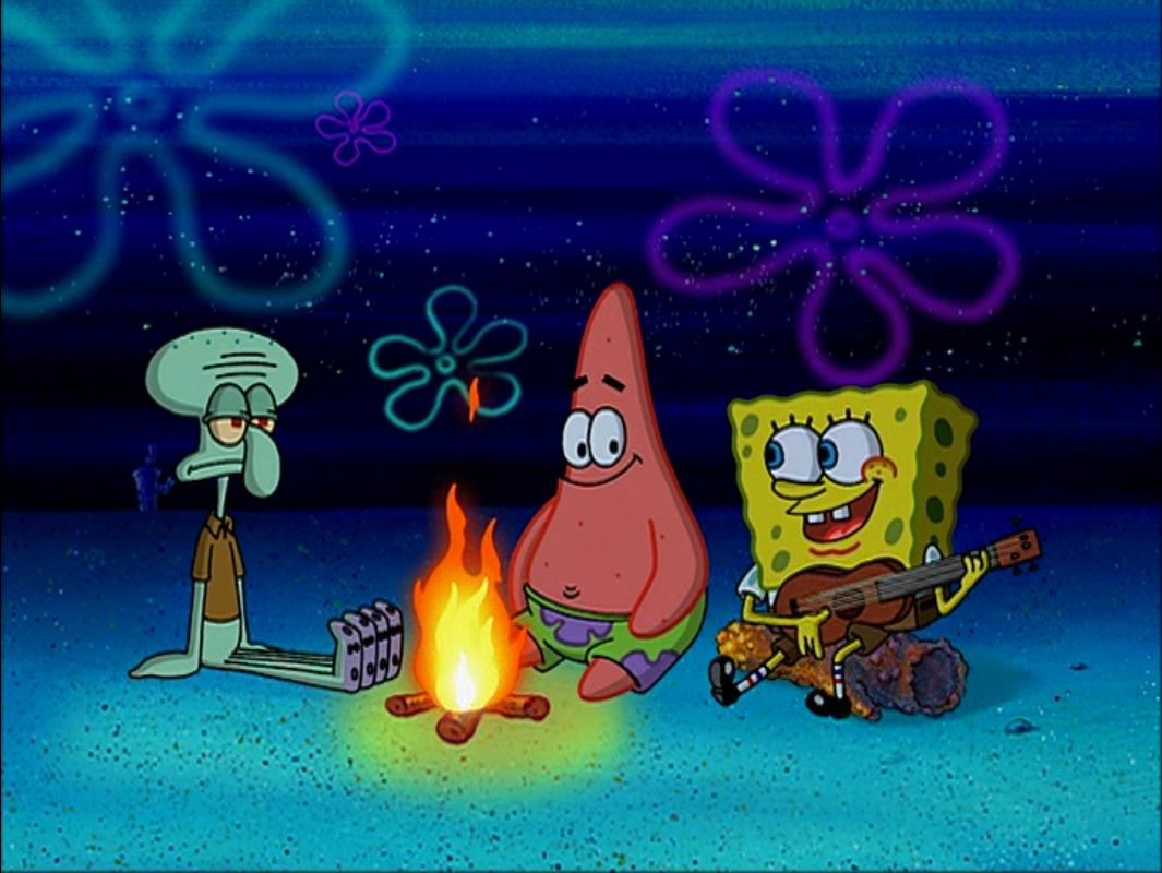 Singing Around The Campfire Spongebob