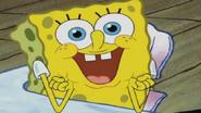 Creepy SpongeBob Face