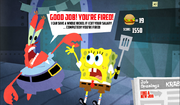 SpongeBob, You're Fired! (online game) - Good job! You're fired! (Mr. Krabs)