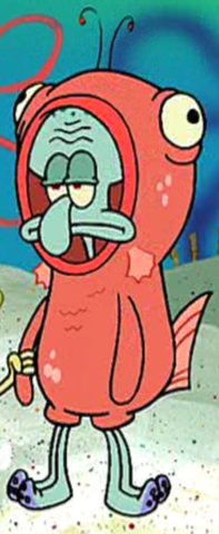 File:Squidward Wearing a Salmon Suit.png