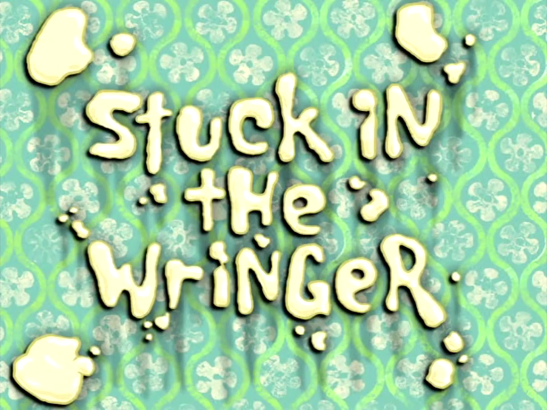 Dick in the wringer time