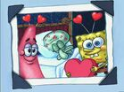 Picture Of Patrick, Squidward Sleeping, & Spongebob On Valentines Day