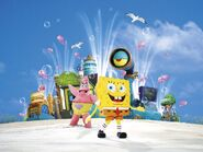 SpongeBob characters live promo