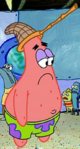 Patrick Wearing a Jellyfishing Net on his Head