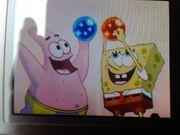 SpongeBob & Patrick holding Blue & Red jewels