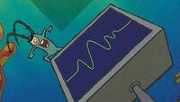 SpongeBob SquarePants Karen the Computer and Plankton on Monopoly Board