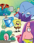 SpongeBob SquarePants Cast - Characters Play Hide and Seek (Poster Size)