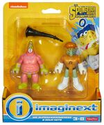 Sponge out of water Imaginext Mr. Superawesomeness and Sour Note