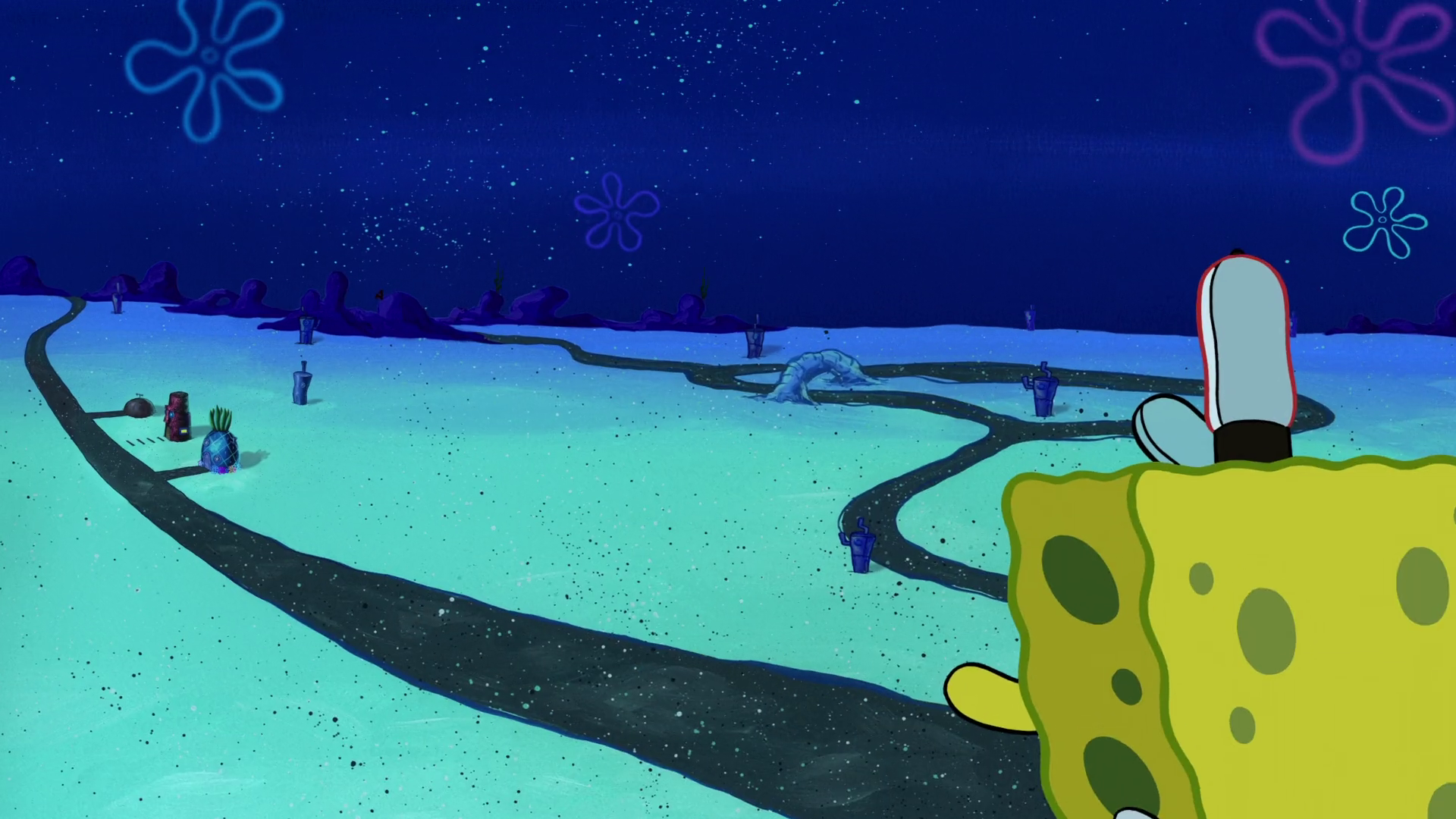 spongebob stuck on the roof music