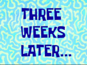 Three Weeks Later...