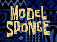 Model Sponge title card