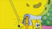 SpongeBob's Wringer in Truth or Square