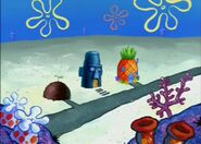 Spongebob squdward and patricks houses