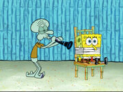 Squidward Plays His Clarinet and the Earworm Leaves 5