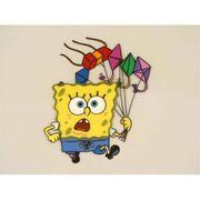 Animation-art-fresh-original-cel-animation-art-frantic-running-spongebob-of-animation-art