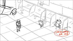 Criminal in Cave Dwelling Sponge storyboard