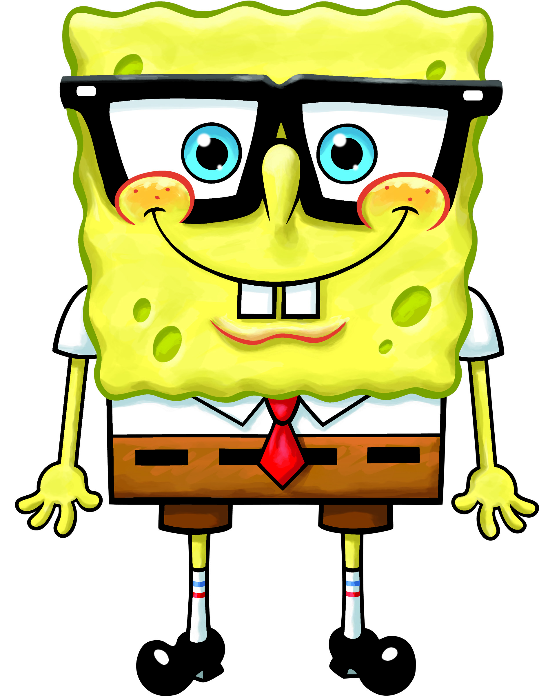 Growing Up With Glasses Spongebob