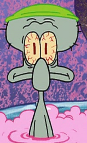 File:Squidward Wearing a Shower Cap.png