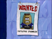 Wanted poster in police station