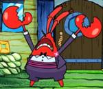 Mr. Krabs Wearing Fancy Clothes