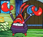 Mr. Krabs Wearing Fancy Clothes