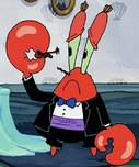 Mr. Krabs Wearing Fancy Clothes2