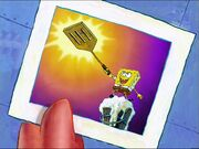 1 Picture Of Spongebob With The Golden Spatula