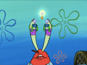 Mr. Krabs with Tourist Eyes
